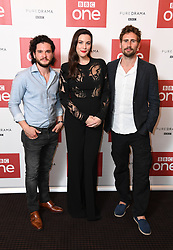 Kit Harington, Liv Tyler and Edward Holcroft attending a preview of new BBC drama Gunpowder, held at BAFTA, 195 Piccadilly, London. Photo credit should read: Doug Peters/EMPICS Entertainment