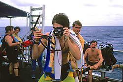 John Ames With Nikonos Underwater Camera