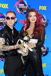 August 13, 2017 - Los Angeles, CA, USA - LOS ANGELES - AUG 13:  Bella Thorne, Blackbear at the Teen Choice Awards 2017 at the Galen Center on August 13, 2017 in Los Angeles, CA (Credit Image: © Kay Blake via ZUMA Wire)