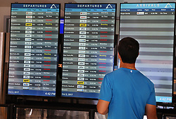 Although the operations at the Luis Marin Muñoz airport in San Juan are improving many flights are been cancelled after Hurricane Maria, (category 4) passed through Puerto Rico devastating the island leaving residents without power on Sept 20. on October 02, 2017. Photo by Pedro Portal/Miami Herald/TNS/ABACAPRESS.COM