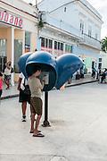 Santa Clara, Cuba public payphone