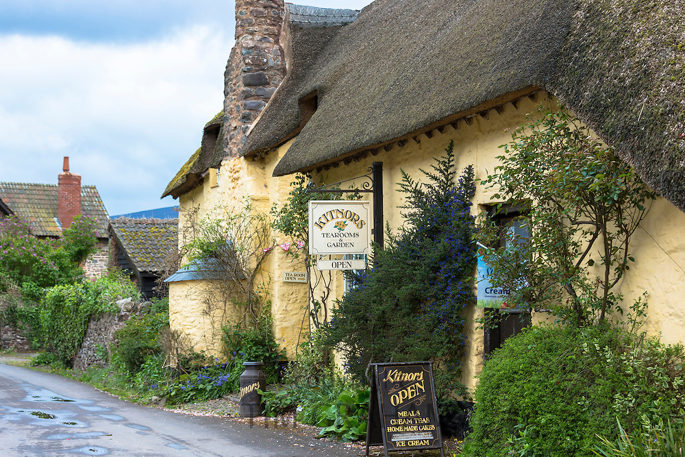 Kitnors traditional and quaint cafeteria tearooms at Bossington in Exmoor National Park, Somerset, United Kingdom