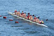 London, United Kingdom. Vesta RC. A crew  Barnes bridge Rail Bridge. 2014 Women's Head of the River Race. Chiswick to Putney, River Thames.  Saturday  15/03/2014    [Mandatory Credit; Peter Spurrier/Intersport-images]