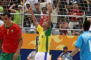 Footbal-FIFA Beach Soccer World Cup 2006 -  Semi Final- BRA xPOR -Bruno celebrates the goal-Rio de Janeiro- Brazil - 11/11/2006.<br />Mandatory Credit: FIFA/Ricardo Ayres