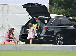 The Duchess of Cambridge, Prince George, Princess Charlotte and Prince Louis attend the King Power Royal Charity Polo Day at Billingbear Polo Club, Wokingham, Berkshire.