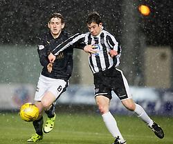 Falkirk's Blair Alston and Fraserburgh's William West. <br /> Falkirk 4 v 1 Fraserburgh, Scottish Cup third round, played 28/11/2015 at The Falkirk Stadium.
