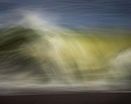 Wave abstract at Point Reyes National Seashore, Marin County, California