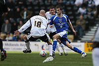 Photo: Pete Lorence.<br />Derby County v Cardiff City. Coca Cola Championship. 17/03/2007.<br />Roger Johnson on the attack.
