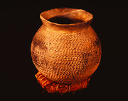 Ancestral Pueblo pottery, Pueblo II-III, Dolores Corregated Wide Mouth Jar, Edge of the Cedars State Park Museum, Blanding, Utah.  (ECPR-8361)