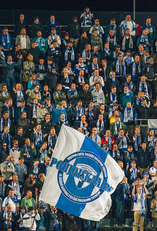 Pohjoiskaarre MM2018-karsintaottelussa Suomi - Kosovo. Veritas stadion, Turku, Suomi. 5.9.2016.