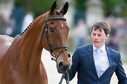 Watson Sam, (IRL), Horseware Bushman<br /> First Horse Inspection - Mitsubishi Motors Badminton Horse Trials <br /> Badminton 2015