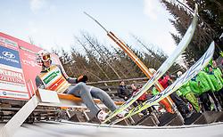 10.01.2014, Kulm, Bad Mitterndorf, AUT, FIS Ski Flug Weltcup, Probedurchgang, im Bild Kamil Stoch (POL) // Kamil Stoch (POL) during the Trial jump of FIS Ski Flying World Cup at the Kulm, Bad Mitterndorf, <br /> Austria on 2014/01/10, EXPA Pictures © 2014, PhotoCredit: EXPA/ JFK