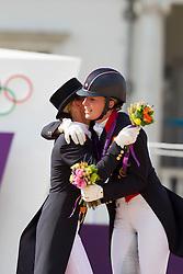 1 Dujardin Charlotte (GBR), 2 Cornelissen Adelinde NED)<br /> Olympic Games London 2012<br /> © Dirk Caremans