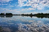 France, Indre (36), le Berry, parc naturel régional de la Brenne, Saint Michel en Brenne, observatoire de l'étang de la Sous // France, Indre (36), le Berry, Brenne, natural park, observatory of Etang de la Sous