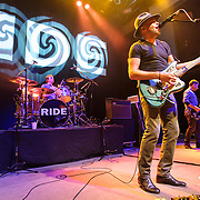 Loz Colbert , Mark Gardener and Steve Queralt of Ride perform at the 9:30 Club in Washington, D.C. on the opening night of their fall U.S. tour.