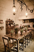 Kitchen dinning room, Chateau de Chenonceau, Chenonceaux, Loire Valley, France