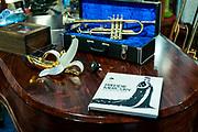 Montreux, juin 2019. Balade sur les traces de Freddie Mercury à Montreux qui accueille le Jazz Montreux Festival.  l'intérieur du chalet. © Olivier Vogelsang