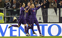 Esultanza Josip Ilicic Fiorentina dopo gol 0-1, goal celebration,<br /> Torino 13-12-2015, Juventus Stadium, Football Calcio 2015/2016 Serie A, Juventus - Fiorentina, Foto Filippo Alfero/Insidefoto