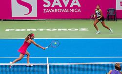 PORTOROZ, SLOVENIA - SEPTEMBER 18: Aleksandra Krunic and Lesley<br /> Pattinama Kerkhove during the double finals of WTA 250 Zavarovalnica Sava Portoroz at SRC Marina, on September 19, 2021 in Portoroz / Portorose, Slovenia. Photo by Nik Moder / Sportida