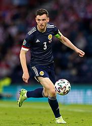 Scotland's Andrew Robertson during the UEFA Euro 2020 Group D match at Hampden Park, Glasgow. Picture date: Tuesday June 22, 2021.