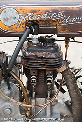 Norm Nelson's 1911 single-cylinder, single-speed, belt drive Class-1 Reading Standard motorcycle photographed outside the Twisted Oz Museum at a hosted dinner stop during Stage-7 from Springfield, MO to Wichita, KS. USA. Friday September 16, 2016. Photography ©2016 Michael Lichter.
