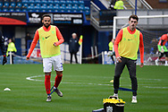 Anton Walkes (2) of Portsmouth warming up ahead of the EFL Sky Bet League 1 match between Portsmouth and Ipswich Town at Fratton Park, Portsmouth, England on 21 December 2019.