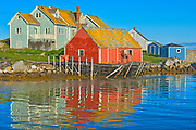 Reflection in fishing village of Peggy's Cove, Peggy's Cove, Nova Scotia, Canada