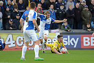 Bristol Rovers midfielder Stuart Sinclair fouls Chesham United midfielder Matt Taylor during the The FA Cup match between Bristol Rovers and Chesham FC at the Memorial Stadium, Bristol, England on 8 November 2015. Photo by Alan Franklin.