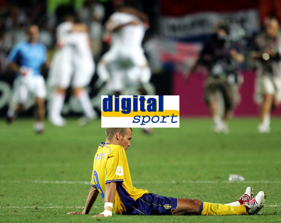 Fotball, 26. juni 2004, EM, Euro 2004, Sverige- Nederland, Fredrik Ljungberg, Sverige