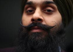 Jasdeep Singh, Community Curator of the National Army Museum, during the Mayor of London Vaisakhi celebrations in Trafalgar Square, London, to mark the Sikh New Year.