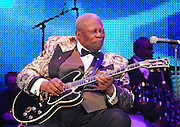 Legendary musician B.B.King preforms in New Orleans Saturday May 30,2009 as part of the Domino Effect Benefit concert which also featured B.B. King and Chuck Berry. Domino Effect Benefit Concert legendary performers gather in New Orleans at the Arena to raise funds and awarness for hurricane Katrina rebuilding for Fats Domino the Tipatina Foundation and the Drew Brees' foundation. Photo©Suzi Altman ALL IMAGES ©SUZI ALTMAN. IMAGES ARE NOT PUBLIC DOMAIN. CALL OR EMAIL FOR LICENSE, USE, OR TO PURCHASE PRINTS 601-668-9611 OR EMAIL SUZISNAPS@AOL.COMPhoto©Suzi Altman Indianola Mississippi- Multi Grammy winner and legendary blues guitarist B.B. King plays his hometown crowd outside his museum the  B.B. King Delta Interpretive Center and Museum. Photo© Suzi Altman