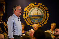 Republican Jeb Bush speaks to supporters gathered at the Laconia VFW Thursday evening.  (Karen Bobotas/for the Laconia Daily Sun)