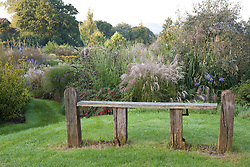 Simple wooden bench seat at Marchants