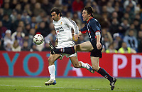29/2/2004 Madrid, Spain.<br />La Liga (Spanish League) 26 day.<br />R.Madrid 4 - Celta 2<br />R.Madrid's Figo in duel with Celta's Berizzo at Santiago Bernabeu's Stadium.