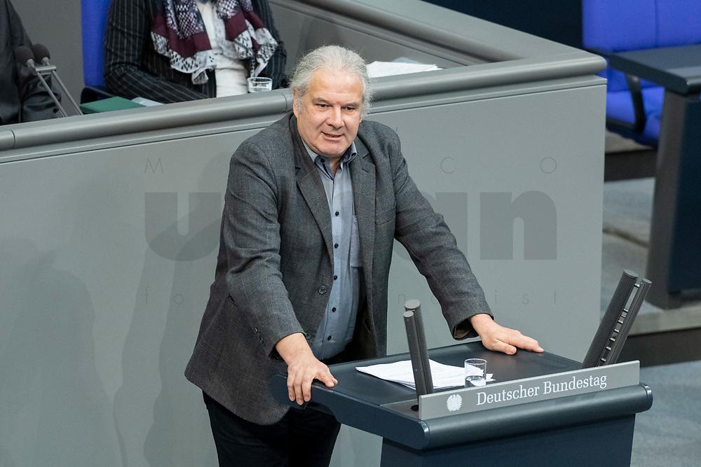 13 FEB 2020, BERLIN/GERMANY:<br /> Andrej Hunko, MdB, Die Linke, Sitzung des Deutsche Bundestages, Plenum, Reichstagsgebaeude<br /> IMAGE: 20200213-01-027