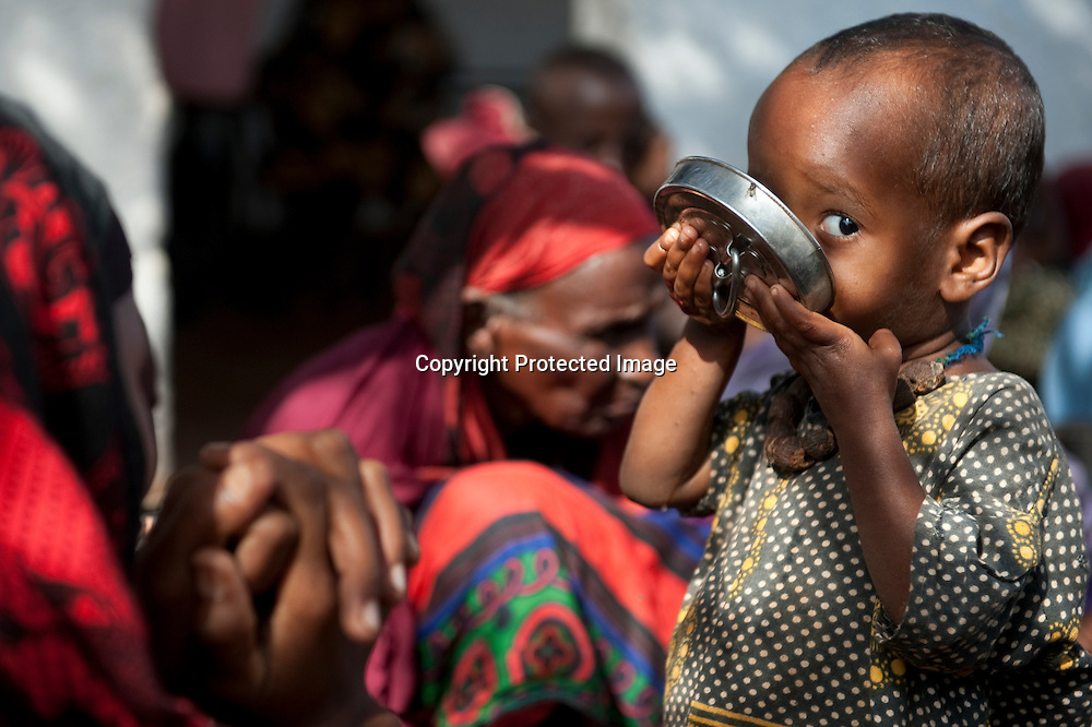New arrivals at Kenya's Dadaab Refugee Camp, situated northeast of the capital Nairobi near the Somali border.