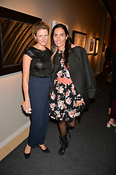 Fiona Scarry and Tatiana at the 2017 PAD Collector's Preview, Berkeley Square, London, England. 02 October 2017.