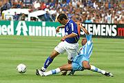 Belo Horizonte_MG, Brasil...Jogador do Cruzeiro, Zinho, na final do Campeonato Brasileiro 2003...The Cruzeiro soccer player, Zinho, at the end of Brazilian Football Championship 2003...Foto: LEO DRUMOND / NITRO