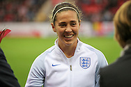 Fara Williams (England) before the Euro 2017 qualifier between England Ladies and Belgium Ladies at the New York Stadium, Rotherham, England on 8 April 2016. Photo by Mark P Doherty.
