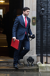 Downing Street, London, December 8th 2015. Welsh Secretary Stephen Crabb leaves Downing Street following the weekly cabinet meeting.