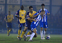 Photo: Ashley Pickering/Sportsbeat Images.<br /> Colchester United v Leicester City. Coca Cola Championship. 03/11/2007.<br /> Matty Fryatt of Leicester (L) tries to get around Matt Connolly of Colchester
