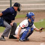 NLD/Bussum/20050521 - Honkbal, HCAW - Tornado's.catcher, scheidsrechter
