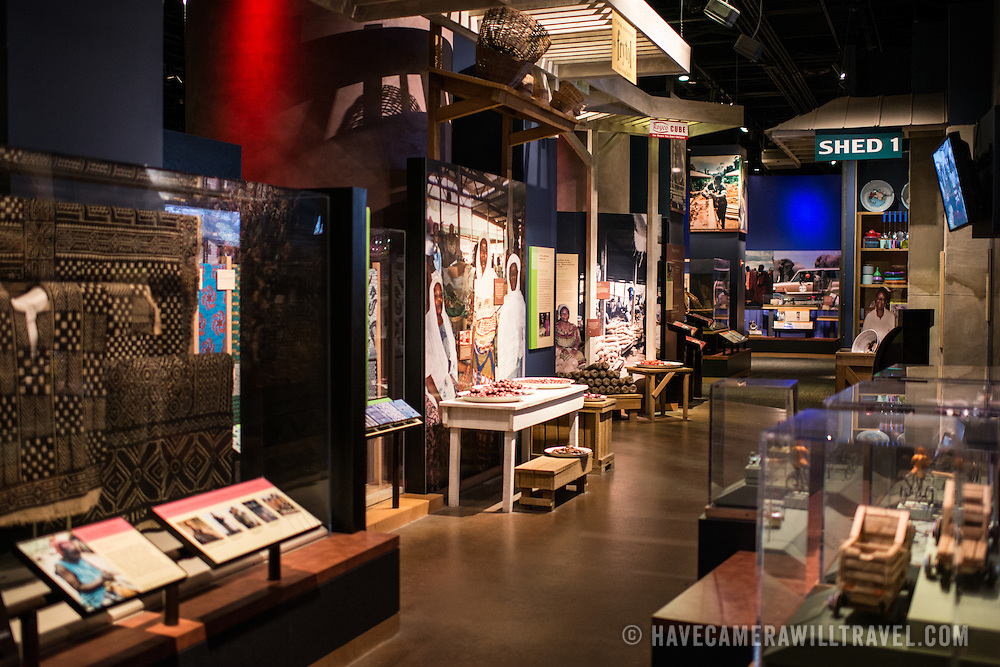 An exhibit focusing on African culture in the Smithsonian National Museum of Natural History on the National Mall in Washington DC.