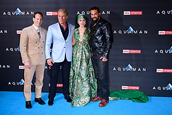 (left to right) Patrick Wilson, Dolph Lungren, Amber Heard and Jason Momoa attending the Aquaman premiere held at Cineworld in Leicester Square, London.