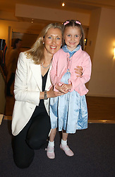 COUNTESS ALLESANDRO GUERRINI-MARALDI and her daughter LARISSA at a performance by the London Childrens Ballet of 'The Little Princess' at The Peacock Theatre, Portugal Street, London WC2 on 19th May 2005.<br /><br />NON EXCLUSIVE - WORLD RIGHTS