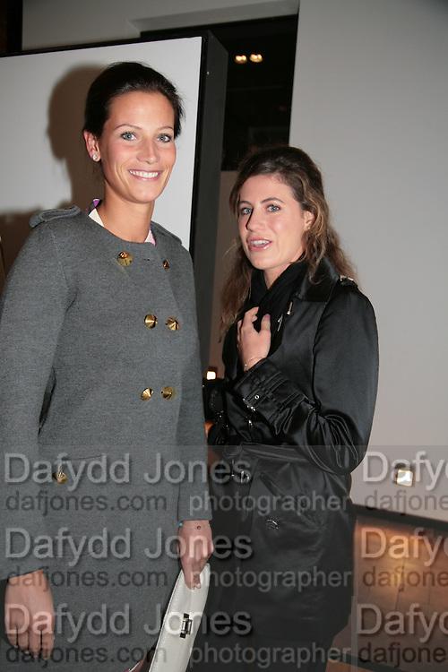 Julia Baumhoff and Francesca Versace, Helmut Newton XL. Hamiltons. Carlos Place. London. 25 September 2007. -DO NOT ARCHIVE-© Copyright Photograph by Dafydd Jones. 248 Clapham Rd. London SW9 0PZ. Tel 0207 820 0771. www.dafjones.com.