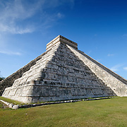 El Castillo (also known as Temple of Kuklcan) at the ancient Mayan ruins at Chichen Itza, Yucatan, Mexico 081216093012_4429.NEF