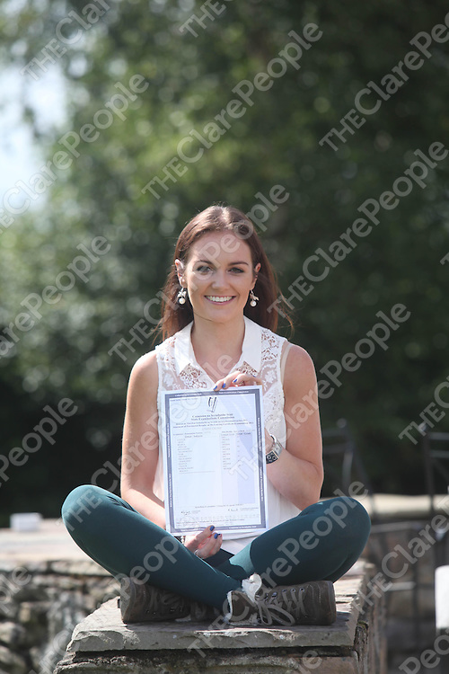 Louise Crowe from Cratloe pictured after recieving 615 points in her leaving cert at Laurel Hill School in Limerick.<br /> Pic. Brian Arthur/ Press 22.