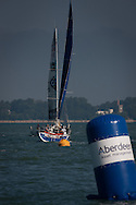 The Artemis Challenge at Aberdeen Asset Management Cowes Week 2014. <br /> Artemis  line up at the start of the race<br /> FREE for editorial use. Credit: Lloyd Images
