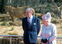 HM The Queen and HRH The Duke of Edinburgh open the  ZSL London Zoo's new  exhibit,<br />  Land of the Lions, on 17th march 2016